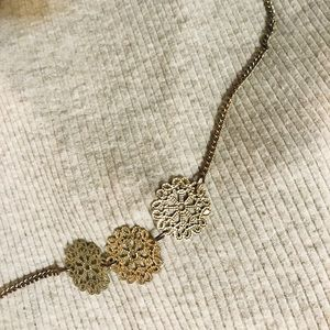 Gold floral necklace